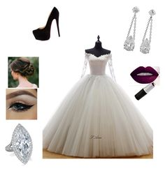 """WEDDING....... one day"" by jchism on Polyvore featuring Christian Louboutin, women's clothing, women's fashion, women, female, woman, misses and juniors"