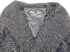shopgoodwill.com: Black Curly Lamb Coat Vintage