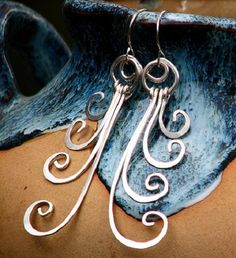 Sterling Silver Fern Earrings