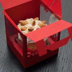 Cupcakes en cajas individuales navideñas