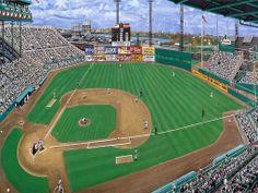 Braves Field, Boston World Series). By Andy Jurinko Baseball Park, Braves Baseball, Baseball Field, Stadium Tour, Yankee Stadium, Mlb Stadiums, Baseball Classic, Field Of Dreams, Washington Nationals