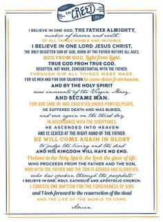 "Nicene Creed / Credo - ""I believe..."""