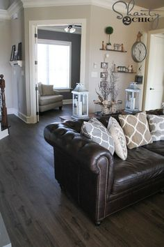 329 Best Brown Leather Couch Decor Images Diy Ideas For