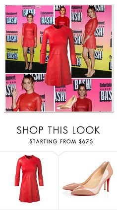 """""""2016 San Diego Comic Con: Entertainment Weekly Party~ Camilla Luddington"""" by snugget9530 ❤ liked on Polyvore featuring ThePerfext and Christian Louboutin"""