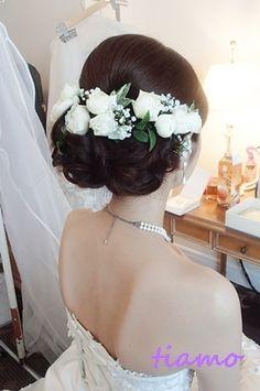 美人花嫁さまの3アップスタイルチェンジで素敵な一日♡ |大人可愛いブライダルヘアメイク『tiamo』の結婚カタログ|Ameba (アメーバ)