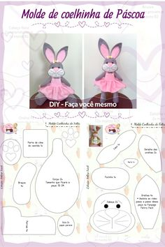 Sewing Crafts, Sewing Projects, Felt Ornaments, Felt Animals, Easter Crafts, Baby Shop, Rabbit, Kids Rugs, Dolls
