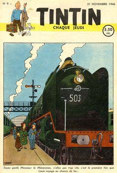 Journal de TINTIN édition Belge N° 9 du 21 Novembre 1946