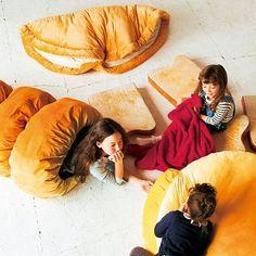 Big Bread Cushions, living room, bedroom