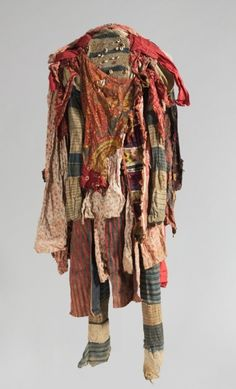 Guinea Coast, Nigeria, Yoruba, 20th century of cotton, cowrie shells, velvet