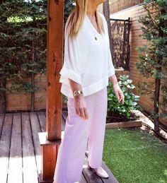 look-dela-semana-pantalón-violeta-treintamasdiez #look #outfits