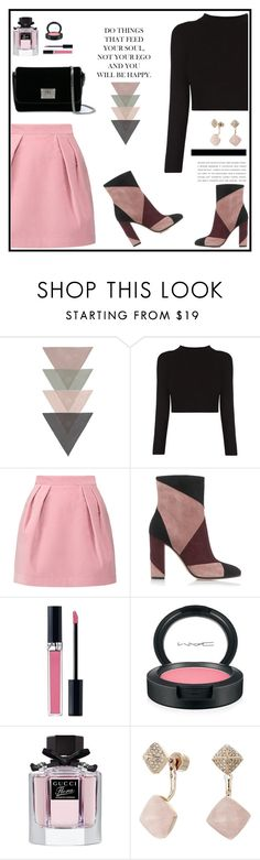 """""""Untitled #468"""" by jovana-p-com ❤ liked on Polyvore featuring MSGM, Gianvito Rossi, Christian Dior, MAC Cosmetics, Gucci, Michael Kors and Jimmy Choo"""