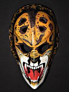 1:1 Custom Vintage Fiberglass Roller NHL Ice Hockey Goalie Mask Helmet Gilles Gratton The Lion HO32 >>> Be sure to check out this awesome product.