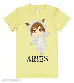 Aries Kids Tee | A cute Aries kids tee. If your child is born with an Aries horoscope, then this tee would be the perfect fit for her.  #Skreened #tee #aries #horoscope #kids #sheep