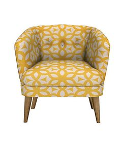 Benni Armchair Feiva Yellow - Self Assembly | M&S
