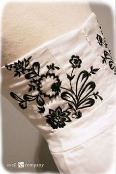 Black and White Wedding Dress Convertible Custom Made by AvailCo
