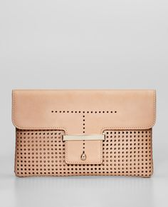 Ann Taylor - AT Handbags & Belts - Perforated Leather Envelope Clutch