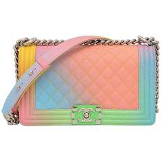 3ec3c29da549 Chanel Rainbow Chanel Boy Handbag Medium  17 Crossbody NEW Sold Out  ( 6