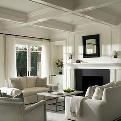 Crisp White Living Room
