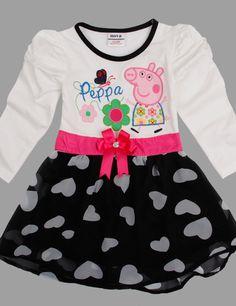 Cute Pig Long Sleeve Lace Baby Girl Dress Kids Dresses For Girls Toddler Girl Clothes Vestido Infantil Children Clothing Peppa Pig Dress, Peppa Pig Outfit, Girls Party Dress, Baby Girl Dresses, Baby Dress, Party Dresses, Baby Girls, Toddler Girl, Skirt And Top Dress