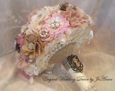 ORO rosa broche ramo-depósito para Blush por Elegantweddingdecor