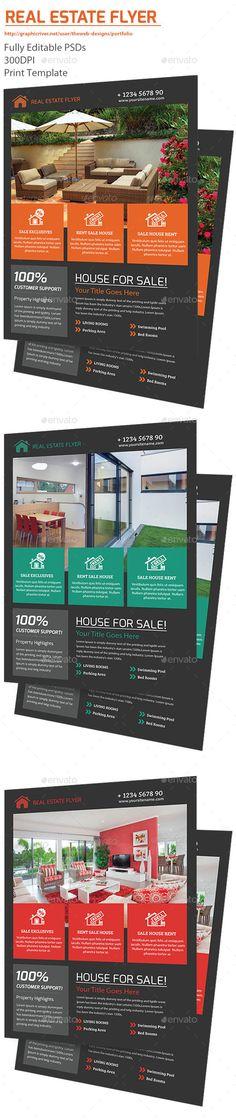 Real Estate Flyer Template #design Download: http://graphicriver.net/item/real-estate-flyer/12732936?ref=ksioks