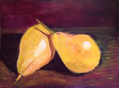 ART QUEST assignment with The Art Sherpa. Paint in acrylic the pears without any instruction. I learned lots about my process. Green Grapes Nutrition, The Art Sherpa, Acrylic Tutorials, Learn To Paint, Pears, Diy Art, Acrylics, Cinnamon, Crafty