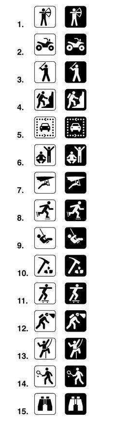 Land Recreation Sign Symbols Map Symbols