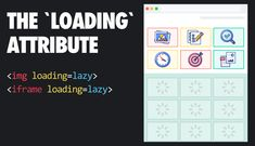 In this post, we'll look at the new loading attribute which brings native <img> and <iframe> lazy-loading to the web! For the curious, here&. Page Web, Library Work, Computer Coding, Open Source Projects, Browser Support, Picture Source, Web Design Tutorials, Material Design, Social Media