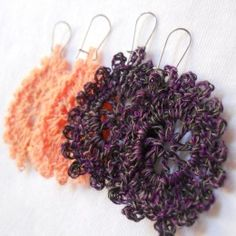 crochet earring patterns...pretty designs