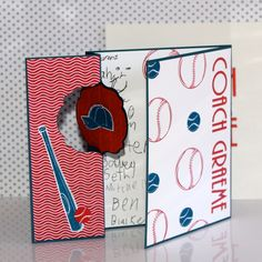 A Sporty Thank You card using Just Baseball Stampin' Up!