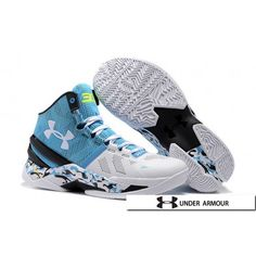 on sale f1c56 f0612 UA Curry 2 Shoes - 2016 New Under Armour UA Curry 2 Camo Blue Yellow White  Black Basketball Shoes. Zapatos De ...