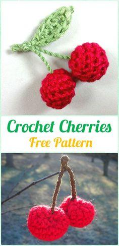 Crochet Cherry Free Pattern - Crochet Amigurumi Fruits Free Patterns