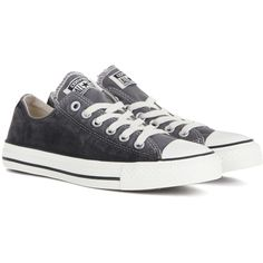 Converse Chuck Taylor All Star OX Sneakers ($86) ❤ liked on Polyvore featuring shoes, sneakers, grey, grey sneakers, grey shoes, converse footwear, converse trainers and gray shoes