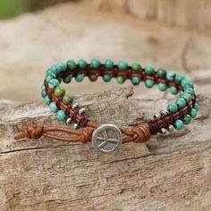 Diy Leather Bracelet, Bracelet Cuir, Leather Jewelry, Wire Jewelry, Boho Jewelry, Beaded Jewelry, Jewelry Bracelets, Country Jewelry, Cowgirl Jewelry
