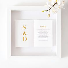 Wedding Gift Personalised Initials Framed Picture