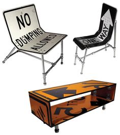 Road Sign Furniture - Tim Delger