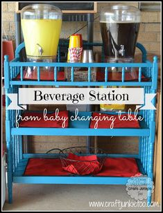 reporposed baby changing table   Beverage Station} From A Baby Changing Table