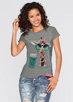 Camiseta com estampa de animal cinza esfumaçado estampado encomendar agora na…