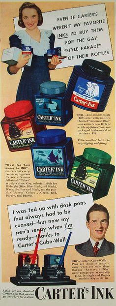 gay style parade of ink bottles