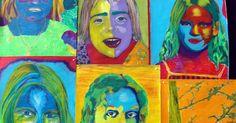 Pop Art, Robert Rauschenberg, Andy Warhol, Elementary Art, Art Ideas, Portraits, Diy, Painting, Abstract