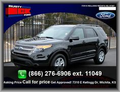 2013 Ford Explorer Base SUV   Overhead Console: Full With Storage, Variable Intermittent Front Wipers, Gray Grille,