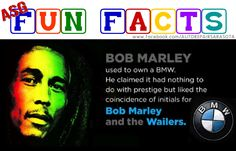 For those BMW Reggae music lovers out there. Who knew that the king of Reggae, Bob Marley, used to own a #BMW? He claimed that it had nothing to do with prestige, but the initials BMW was too much of a coincidence with Bob Marley and the Wailers. And yes, we service BMW vehicles too. Our technicians understand how the BMW is engineered to perform. Best in Auto / Car Repair at Automotive Service Garage - Sarasota FL  http://www.srqautorepair.com/ https://www.facebook.com/AUTOREPAIRSARASOTA
