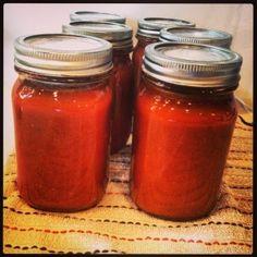 Paleo Ketchup.  Canning recipe with No sugar & No High Fructose Corn Syrup | livinlovinfarmin | Homestead