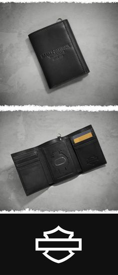 Expert craftsmanship and quality. | Harley-Davidson Men's Debossed Leather Tri-Fold Wallet #ValentinesDay