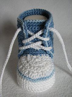 """Häkelanleitung Babyschuh """"Sneaker"""""""