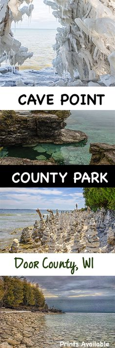 Cave Point County Park I Nikki Lynn Design - The park features underwater caves, hiking trails & limestone cliffs and miles of rocky shore along scenic Lake Michigan in Door County. It is well known by the locals but seems to be overlooked by tourists. Photography prints available.
