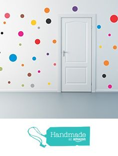 Polka Dot wall decal set from Arise Decals http://www.amazon.com/dp/B01BI8BTOS/ref=hnd_sw_r_pi_dp_MWtUwb0N74S8V #handmadeatamazon  -  diy home decor project ideas kids childs room nursery