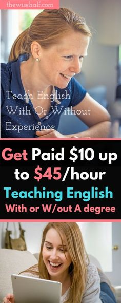 Here's how you can get paid to teach English and any other language with or without a degree. With or without experience. english-tutor These are jobs-that-pay-weekly , work at home, money making apps, part time jobs, work online, side jobs, make money from home, make money fast. Online jobs for college students, online jobs for moms, stay at home jobs, side hustles, side gigs, make money online, work from home companies.