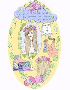 El que cada día va bien, el domingo no tiene que poner. = Chi si veste bene tutta la settimana la domenica non sa che mettersi. #idioms #español #españolidioms #domingo #domingoidioms #grammateca #cristinacomi Peanuts Comics, Domingo