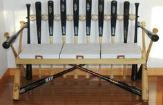 Dan Rabold's baseball bat bench is a product of Cape Cod League discards.